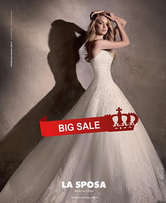 намаление на сватбени рокли промоция на булчински рокли