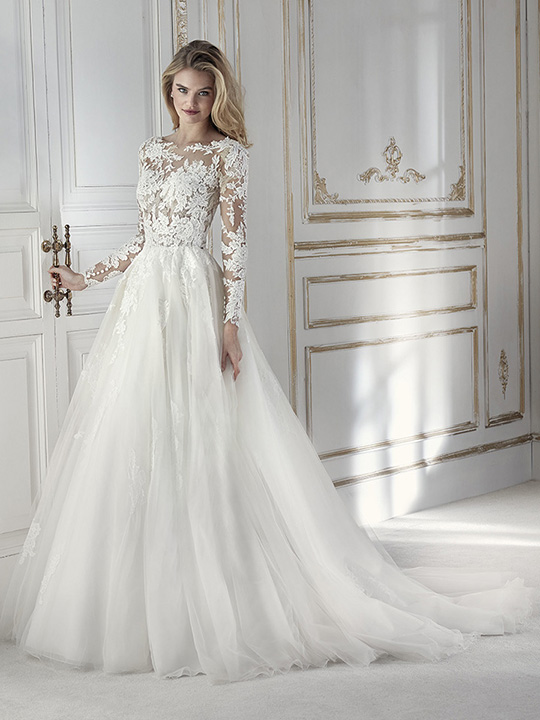 булчинска рокля, сватбена рокля, булчински рокли, сватбени рокли на La Sposa Barcelona, White One колекция 2018 Pronovias Fashion Group, San Patrick