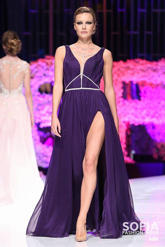 Be Queen Fashion House - Sofia Fashion Week A/W 2018 бални рокли, червен килим, Голяма сцена