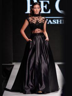 черна абитуриентска рокля на Be Queen Fashion House