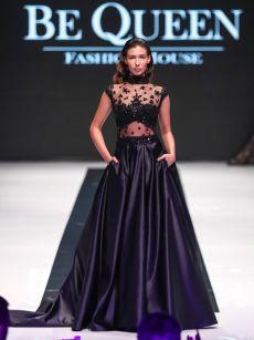 бални рокли черна дантела на Be Queen Fashion House