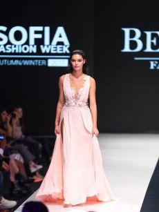 официалана бална рокля розова с цветя на Be Queen Fashion House