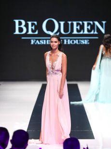 елегантна розова бална рокля на Be Queen Fashion House
