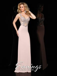 Бална рокля телесен цвят