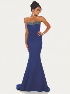 Бална рокля синя неопрен