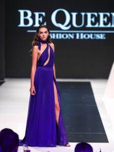 ефирна бална рокля с цепка на Be Queen Fashion House