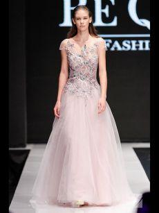 нашита дантела бална рокля на Be Queen Fashion House