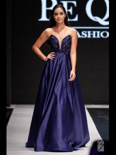 абитуриенткс бална рокля тъмно синя на Be Queen Fashion House